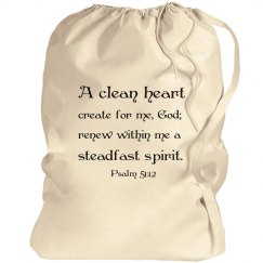 Clean Heart Laundry Bag