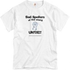 Bad Spellers blue