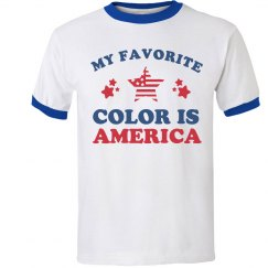 Funny America Is My Favorite Color