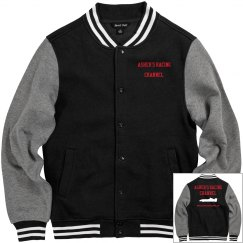 Asher's Racing Channel Men's Letter Jacket