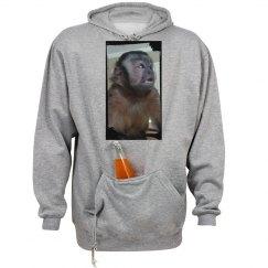 Capuchin monkey drink holder hoodie