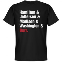 Hamilton &, Jefferson &, ...