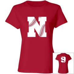 Trendy Custom V-Neck Softball Mom Shirt