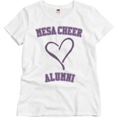 MESA CHEER ALUMNI PURPLE LETTERING