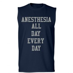 Unisex Tank- Anesthesia all day