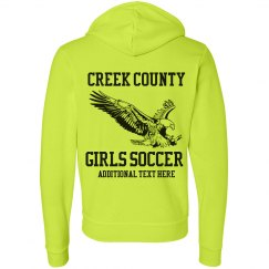 A Neon Soccer Fan
