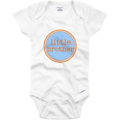 Little Brother Onesie Blue Orange