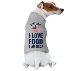 I Love Food & America Dog