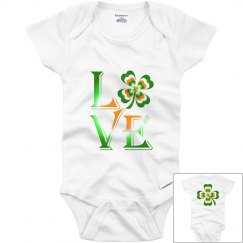 Love Ireland Clover, Infant Onesie
