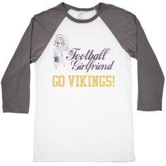 Football Girlfriend Go Vikings! Raglan Tee