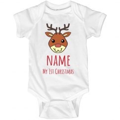 Custom My 1st Christmas Onesie