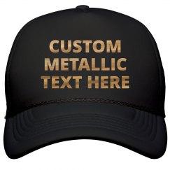Custom Shiny Copper Snap Back