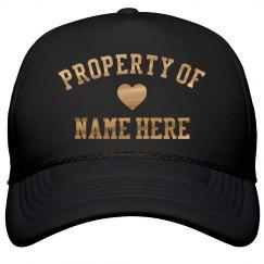Custom Shiny Gold Property Of Heart