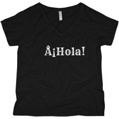 ¡Hola! Black V-Neck Tee