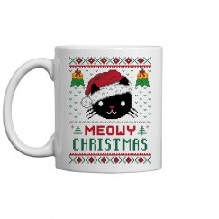 Meowy Christmas Mugs
