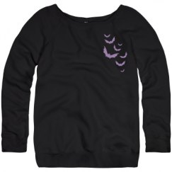 Ladies Relaxed Fit Triblend Wideneck Sweatshirt