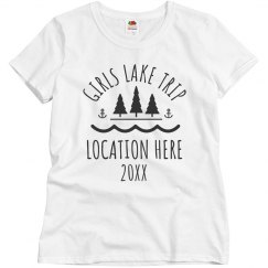 Custom Girls Lake Trip Group Tees