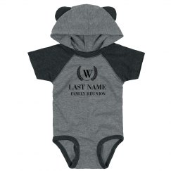 Last Name Custom Hooded Bodysuit