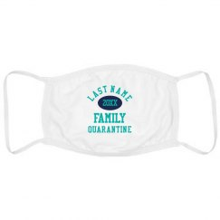 Custom Name Family Quarantine Face Masks