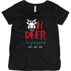 Oh Deer Custom Christmas Maternity