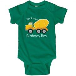 Birthday Boy Cement Truck