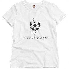 I love my soccer player