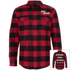 'Hunters wear Flannel' Supernatural initials shirt.