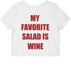 my favorite salad is wine