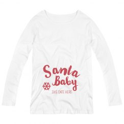 Custom Santa Baby Glitter Maternity
