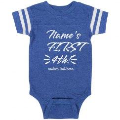 Baby's First Fourth Custom Patriotic Onesie