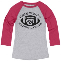 Custom Number Weekend Chance of Football Tee