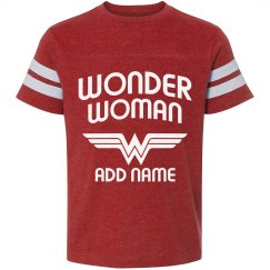 Custom Wonder Woman Youth Tee