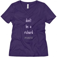 Bella + Canvas relaxed V-neck - richard purple
