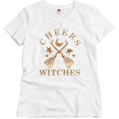 Gold Metallic Cheers Witches