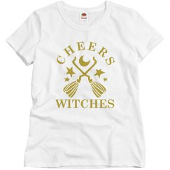 Cheers Witches Broomstick Tee