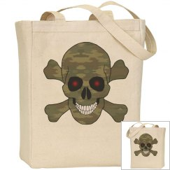 Camouflage Skull Tote Bag