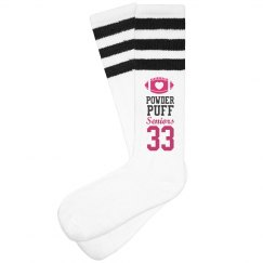 Powderpuff Football Seniors Socks With Custom Text