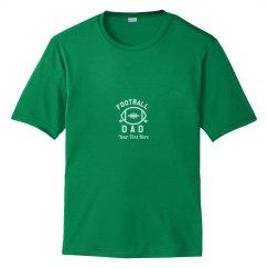 Football Dad Custom Text Performance Tee