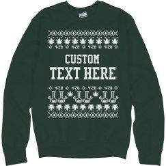 Custom Cannabis Christmas Sweater