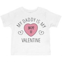 Daddy Is My Valentine Cute Girl