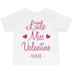 Little Miss Valentine Cute Girl Tee