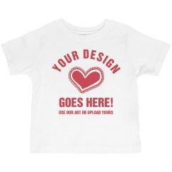 Custom Valentine's Toddler Girl Tee