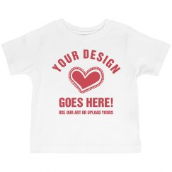 Custom Valentine's Toddler Girl Tee