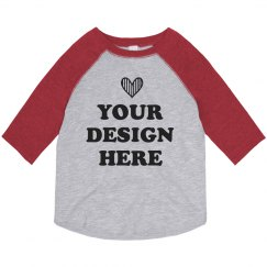 Cute Custom Girls Toddler Raglan