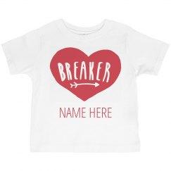 Custom Toddler Heart Breaker Vday
