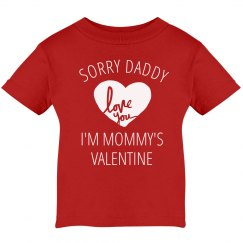 Mommy's Valentine Baby Boy Tee