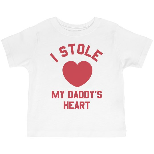 77c8785d2 I Stole Daddy's Heart Toddler Basic Promo Jersey T-Shirt
