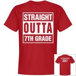 Custom Straight Outta 7th Grade