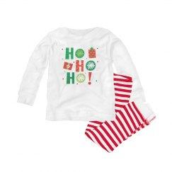 Funny Christmas pajamas say Ho Ho Ho for babies