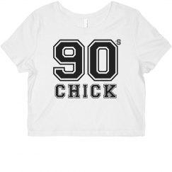 90's CHICK Crop Top